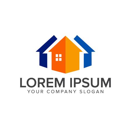 Logo immobilier . modèle de construction de logo architectural conception concept Banque d'images - 82863774