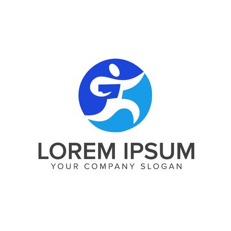 teach people logo design concept template Illusztráció