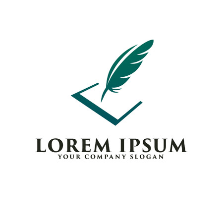 Quill logo. Business and Consulting logo design concept template