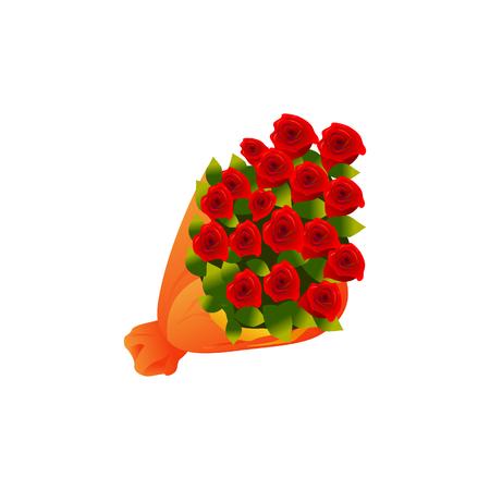 rode rozen groep ingesteld illustratie vector geïsoleerd op een witte achtergrond