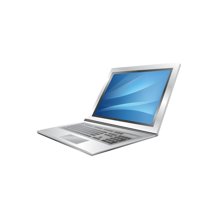 laptop Vector Illustration Isolated on White Background