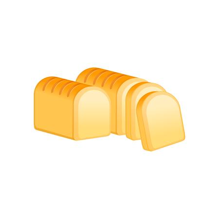 パン。白い背景で隔離のベクトル図  イラスト・ベクター素材