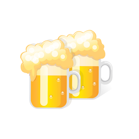beer glass. Vector Illustration Isolated on White Background