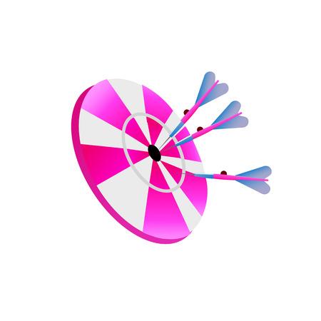 arrow target dart. Vector Illustration Isolated on White Background Иллюстрация