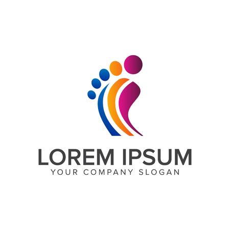 Been mensen logo ontwerp concept sjabloon