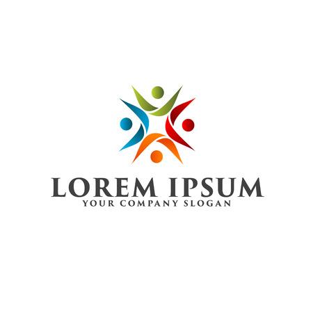 Menschen Business und Consulting Logo. Teamwork Kommunikationsgruppe Logo Design Konzept Vorlage