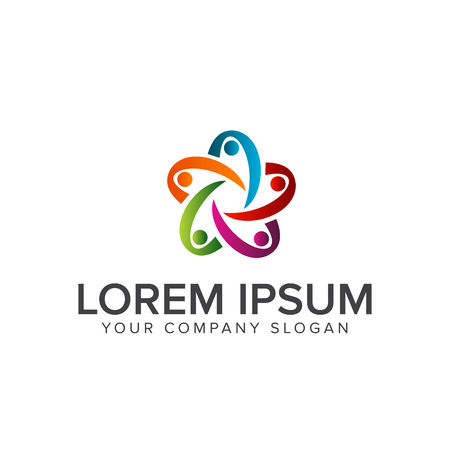 people Business and Consulting logo. teamwork communication group logo design concept template