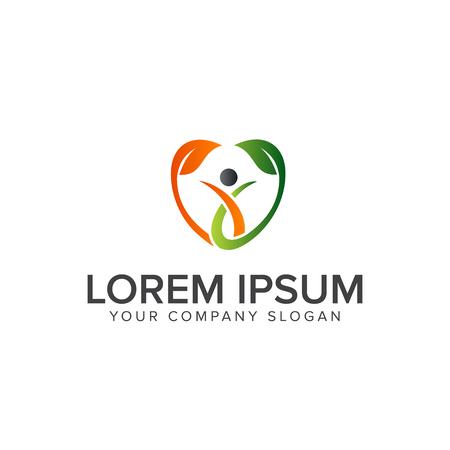 gezond volk logo. Medische logo ontwerpsjabloon concept