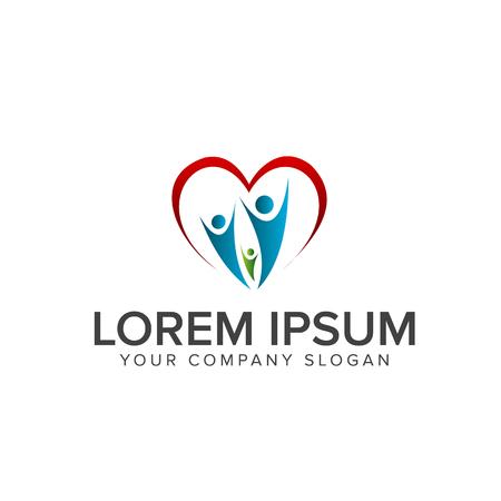 Menschen hilfreiches Support-Logo. Familienpflege-Logo-Design-Konzept-Vorlage Standard-Bild - 82888244