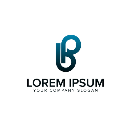 letter b, leter p logo design concept template