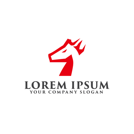 horse logo design concept template Reklamní fotografie - 82888260