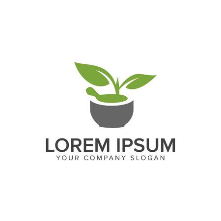 자연 녹색 의료 로고입니다. 약국 디자인 컨셉 템플릿