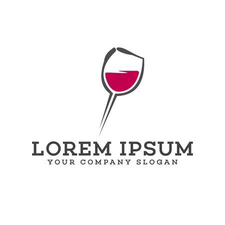 bar night club logo design concept template