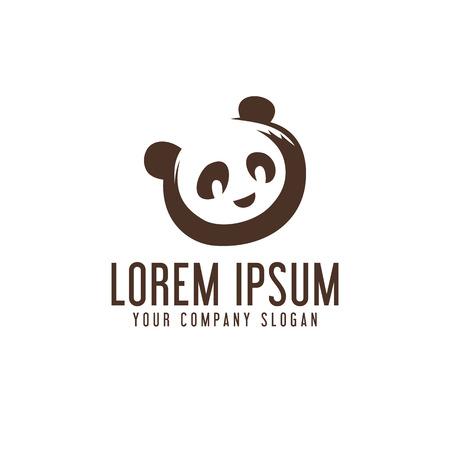 Modèle de concept de conception de logo panda Banque d'images - 82888380
