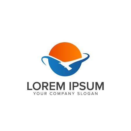 太陽鳥ロゴ ロゴ デザイン コンセプト テンプレート  イラスト・ベクター素材