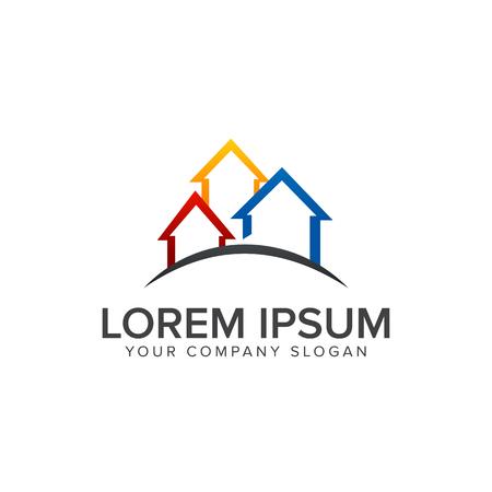 Real estate logo design concept template