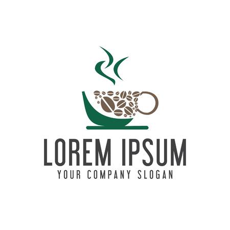 coffee shop logo design concept template