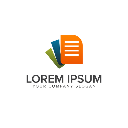 document logo design concept template Illustration