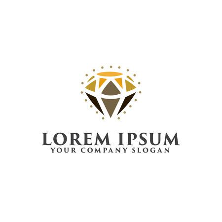 美容ダイヤモンド ロゴ。ジュエリー ギフト デザイン コンセプト テンプレート