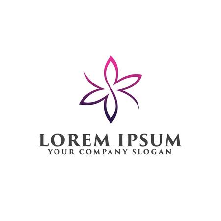Wedding Spa logo design concept template