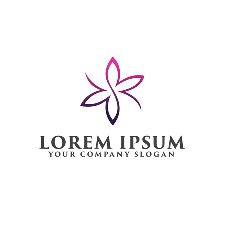 Wedding Spa logo design concept template