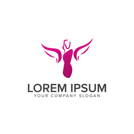 Beauty Fashion logo design concept template Ilustracja