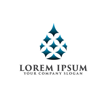 luxury drop star logo design concept template