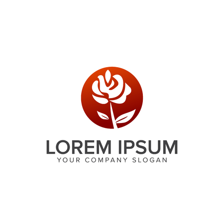 Landscaping Flower logo design concept template 向量圖像