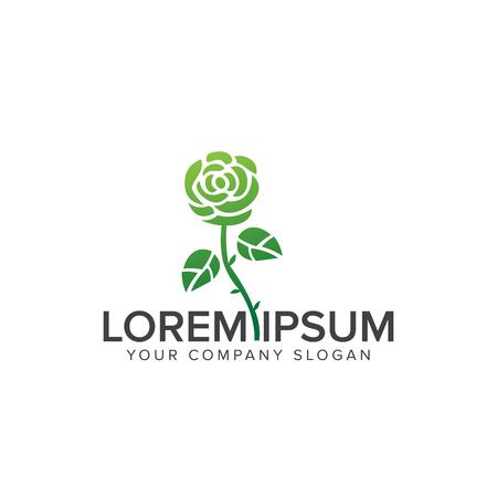 bloem logo. Cosmetica en schoonheid logo ontwerp concept sjabloon