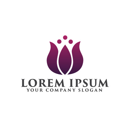 bloem logo. Cosmetica en schoonheid logo ontwerp concept sjabloon Stock Illustratie