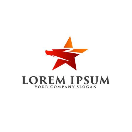 star bird logo design concept template