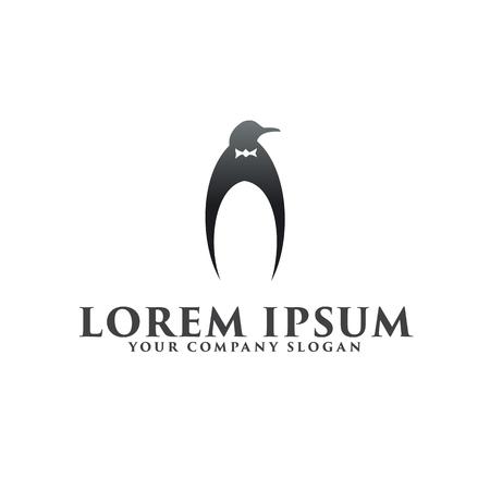 럭셔리 펭귄 로고 디자인 컨셉 템플릿