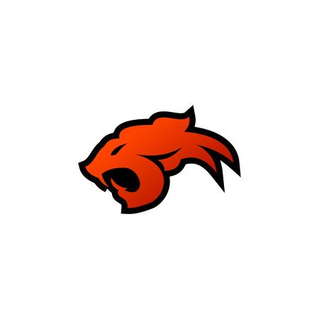 tiger head logo design concept template Illusztráció