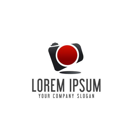 Photography camera logo design concept template Illustration