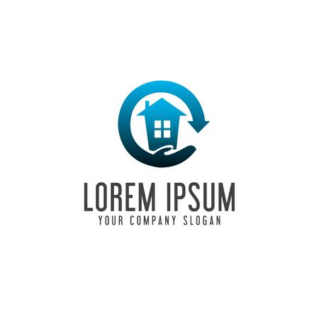 house care logo. Real estate logo design concept template