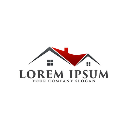 Real estate logo. Architectural Construction logo design concept template