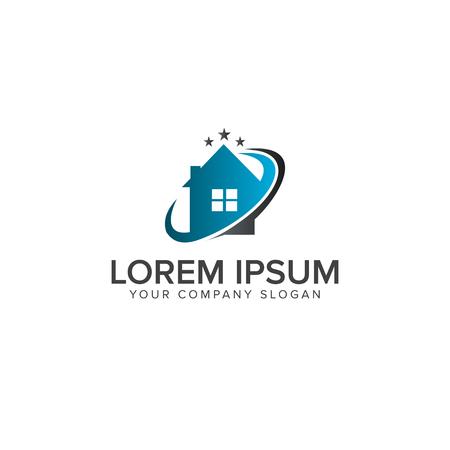 Logo de l'immobilier Modèle de concept de conception de logo de construction architecturale Banque d'images - 82888916