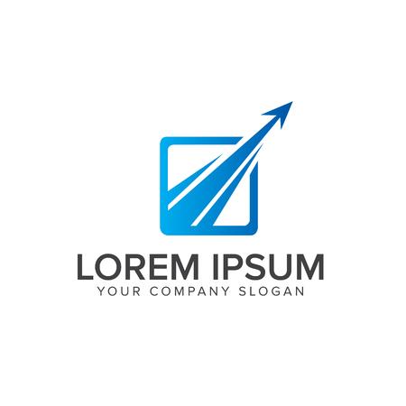 luxury modern arrow logo design concept template. Illustration