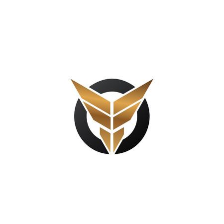 letter F wings logo. security logo design concept template Illustration