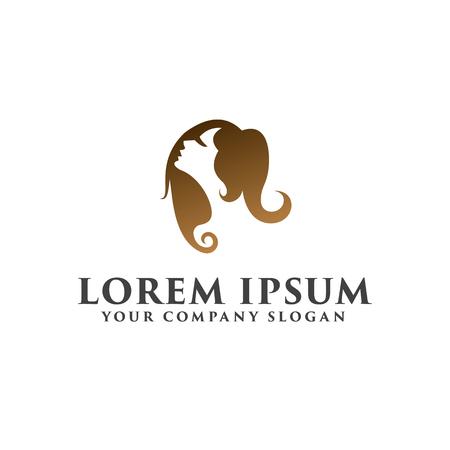 beautiful women Logos. Spa and Esthetics Cosmetics and beauty logo design concept template Stok Fotoğraf - 82888932