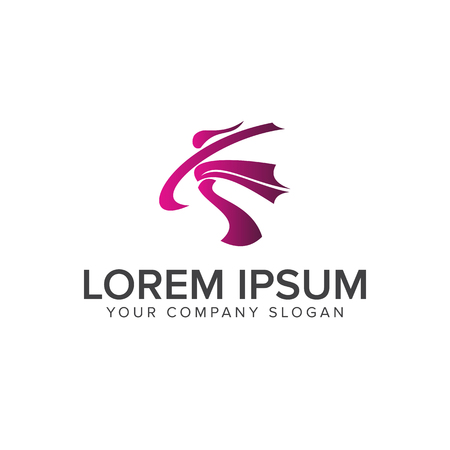 people activity Logos. sport logo design concept template Stock Vector - 82888930