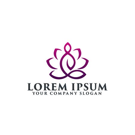 Yoga logo ontwerpsjabloon concept Stock Illustratie