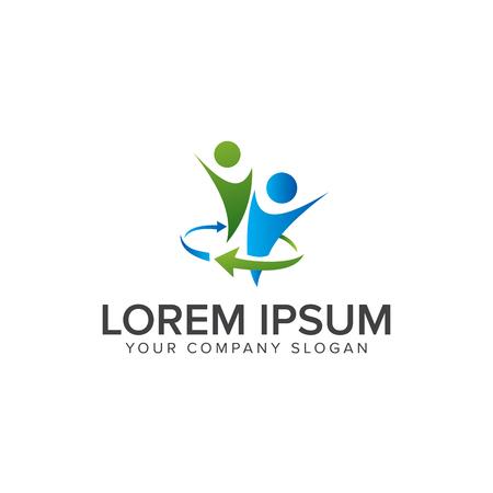 Business und Consulting Menschen Logo Design Vorlage Standard-Bild - 82888969