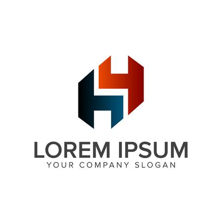 letter h logo. Architectural Construction and Real-Estate logo design concept template Ilustração