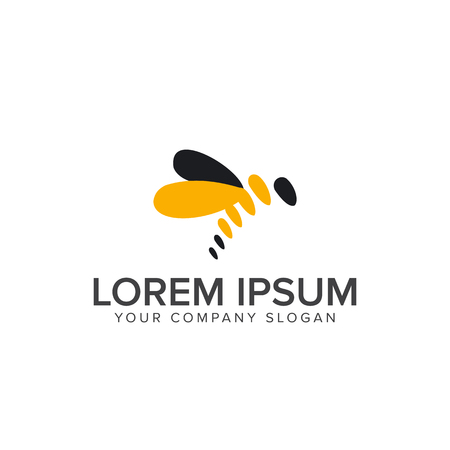 꿀벌 로고 디자인 컨셉 템플릿