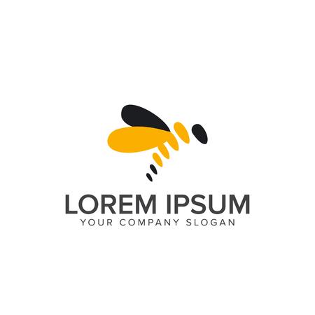bij logo ontwerp concept sjabloon