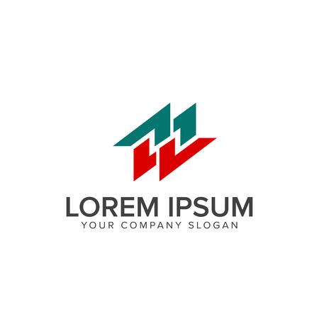 paar letter m logo ontwerpsjabloon concept