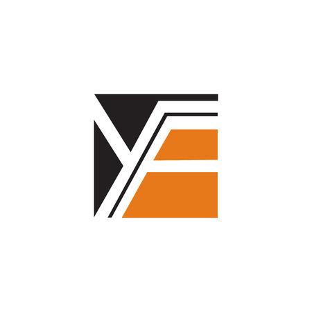 letter y, f logo design concept template