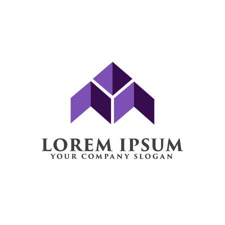 ロゴの文字が。建築と不動産のロゴ デザイン コンセプト テンプレート