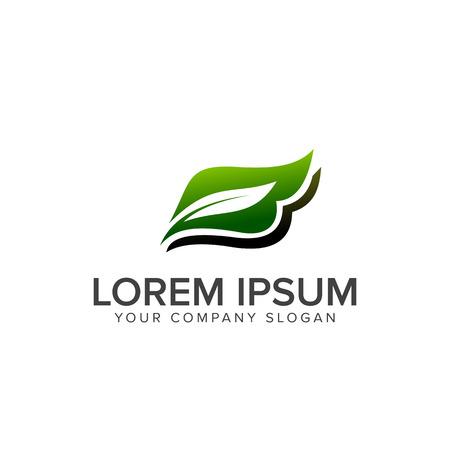 letter b leaf logo design concept template Çizim